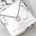 To My Friend-Elegant Circle Rhinestone Sterling Silver Necklace-Message Card