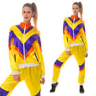 Ladies 80s Shell Suit Fancy Dress 1980's Costume Chav Outfit Scouser Track Suit