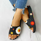 Women's Fashion Colorful Sunflower Pattern Home Shoes Beach Slippers Slides