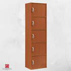 5 Door Storage Cabinet Shelf Organizer Bookcase Pantry Cupboard Closet COLORS