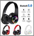 LED Bluetooth Gameing Headset TWS Wireless Earphones Stereo Headphones With Mic
