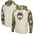 Colosseum UConn Huskies Heathered Oatmeal OHT Military Appreciation Desert Camo