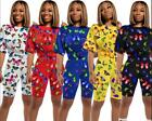 Colors Butterfly printed Women Shorts Set Top elastic-waist Shorts S-2XL 3977