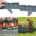 10-50 Garden Edging Plastic Fence Lawn Border Edge Flowerbed Plants Picket Fence