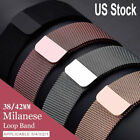 Milanese Loop Strap for Apple Watch 5/4/3/2/1 iwatch Wrist Band 44/42/40/38mm US image