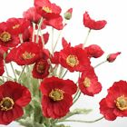 Poppy Flower Spray In Red 60cmh Artificial Flower Australia Home Party Decor Diy