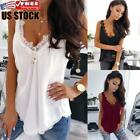 Women Sexy Lace Vest Tank Tops Cami Camisole Summer Sleeveless Top Blouse Shirt