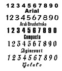 Number Sets Vinyl Color Decal - Sticker - Oracal 651 Id Numbers Custom