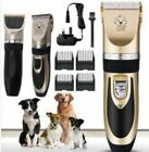 Electric Pet Cat Dog Grooming Clippers Hair Trimmer Shaver Kit Cordless Quiet