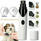 USB Electric Pet Nail Grinder Safe Claws Grooming Trimmer Dog Cat Paw Clipper