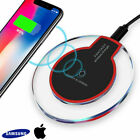 Qi Wireless Fast Charger Charging Pad for Iphone Samsung Galaxy Note10 S9 S8 S7.