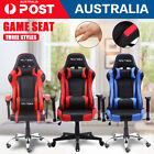 2020 Gaming Office Chair Racing Executive Footrest Computer Seat Pu Leather New