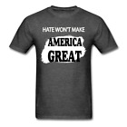 All Lives Matter Hate Won't make america great 4th of July t shirt Size S-6XL image