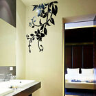3d Leaves Mirror Wall Sticker Removable Decal Acrylic Vinyl Pmural Home Decor Pp