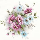 Gladis Pink Blue Wild Flowers Select-A-Size Ceramic Waterslide Decals Dx image