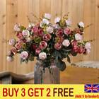 21 Heads Silk Rose Artificial Flowers Bouquet Buch Wedding Home Party Decor Ukg1