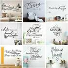Fashiond Diy Wall Sticker Art Quote Vinyl Wall Stickers Home Decal Decoration Us