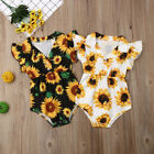 Kyпить US Summer Toddler Baby Girl Clothes Sunflower Romper Jumpsuit Outfit Sunsuit на еВаy.соm