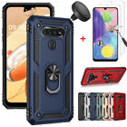 For LG K51 Case Shockproof Stand Cover With Tempered Glass+Car Air Vent Holder $9.85 USD on eBay