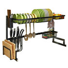 Sink Dish Drying Rack Drainer Shelf Stainless Steel Kitchen Cutlery Holder Usa