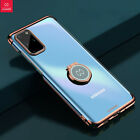 For Samsung Galaxy S20+ Plus Clear Case Shockproof Stand Cover Metal Ring Holder