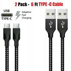 2 Pack Fast Charger Type C USB-C Cable For OEM Samsung Galaxy S10 S9 S8 Note 8