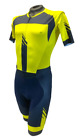 Men's Champion Short Sleeve Road Cycling Skinsuit - Blue & Yellow by GSG