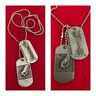 [new] Metallica Rock Band Double Pendant Necklace Dog Tag Unisex Jewelry