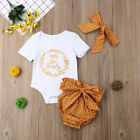 Kyпить Infant Baby Girl Outfit Summer Clothes Tops Romper Jumpsuit+Polka Dot Shorts Set на еВаy.соm