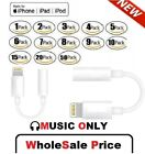 For iPhone Headphone Heaset Adapter Jack 8 Pin to 3.5mm Cord Cable Lot