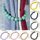 2Pcs Wooden Beads Curtain Tieback Rope Holdback Drape Holder Clip Home Decor New