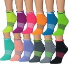 Ronnox Women's 12 Pairs Cushioned Anti-Skid Non-Slip Silicone-Gripper Socks, For