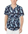INC Mens Shirt Navy Blue Size XS Abstract Print Short Sleeve Button Up $49 #229 <br/> Authentic | Retail: $49.50 | Easy FREE Returns