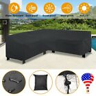 Outdoor L Shape Furniture Cover Dustproof Corner Garden Patio Sofa Protective