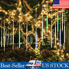LED Meteor Shower Falling Star Rain Snowfall Icicle Lights Waterproof Outdoor US