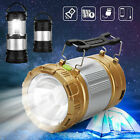 USB Solar Portable Outdoor 6 LED Rechargeable Camping Lantern Bright Tent Lamp