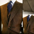Внешний вид - Brown Men Suits Wool Blend Herringbone Vintage Tweed Formal Tuxedos Blazer Pants