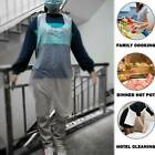 10pcs Disposable Plastic Aprons White Polythene Aprons Eco Flat Pack Waterproof