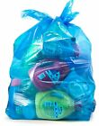 Recycling Trash Bags, 33 Gallon, (100 case w/Ties) Large Blue Garbage Bags, 3...
