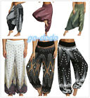 Womens Boho Baggy Harem Pants High Waist Wide Legs Loose Long Trousers Yoga Fit