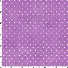 Beautiful Basics Fabric Purple White Polka Dot #609-VR Quilt Shop Quality Cotton