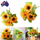 Fake Silk Artificial 7heads Sunflower Flower Bouquet Floral Garden Home Decor