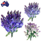 2x Bouquet Artificial Fake Silk Lavender Flower Home Wedding Garden Floral Decor