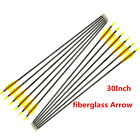 6/12x 30inch Archery Fiberglass Arrows for Hunting Shooting Target Practice