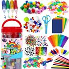 Arts and Crafts Supplies for Kids-Craft Art Supply Kit Crafting Collage for Kids