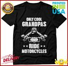 TeeStars  Only Cool Grandpas Ride Motorcycles  Gift for Biker Papa TShirt