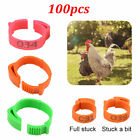 100Pcs/Set Poultry Bands Foot Ring Leg Clip For Chicken Duck Bird Pigeon Parrots