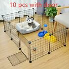 Crate Iron Fence Puppy Kennel House Training Puppy Kitten Space Dog Pet Foldable