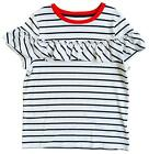 Girls Breton Stripe Frill Chest Summer T-Shirt Top 9 Months to 9 Years