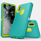 For Samsung Galaxy A20S A20 Case Shockproof Hybrid Armor Cover+HD Tempered Glass